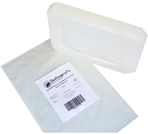 Jabón base de glicerina, transparente/blanco (libre de SLS), transparente (1kg transparente)