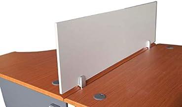 Mahmayi Metal/Wood Deler Divider Panel, ME120SLWDP, Silver, H1.5 x W40 x D120 cm