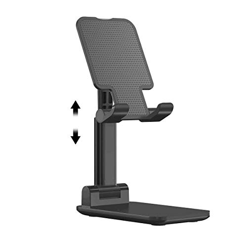 AICase Tablet/Phone Stand, Universal Adjustable Aluminum Desktop Stand, for New iPad Pro 10.5/9.7/11, Air mini 2 3 4, Samsung Tab, Other Smartphones and Tablets (4-11inch)(Black)