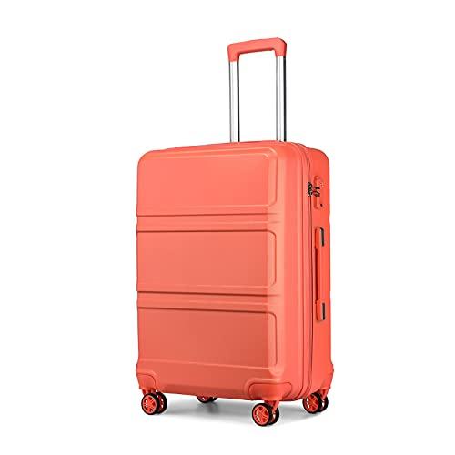 Kono Trolley da viaggio con ruote gemellate, in ABS, 55 cm, con lucchetto TSA