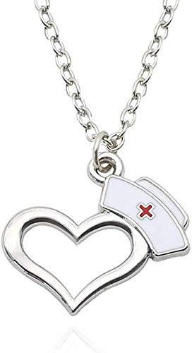 N-G Collar de Gorra de Enfermera Sombrero de corazón...