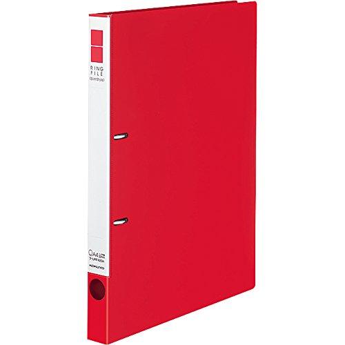 コクヨ リングファイル スリム 2穴 A4 180枚収容 赤 フ-URF420R