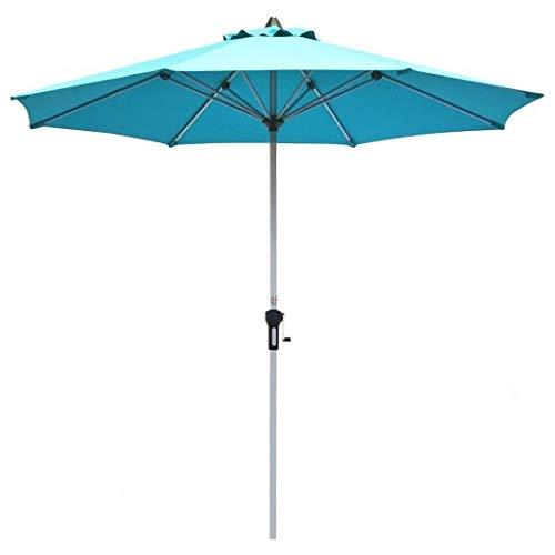 Homeura 9' Patio Outdoor Market Umbrella with Aluminum Pole-Blue