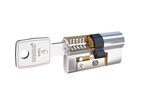 Kaba Entro Cilindro Alta Seguridad 30x30mm niquelado, Refuerzo Lam Zona Inferior y Doble Embrague, 30x30