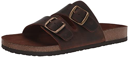 WHITE MOUNTAIN Shoes Helga Women's Sandal, Brown/Leather, 7 M