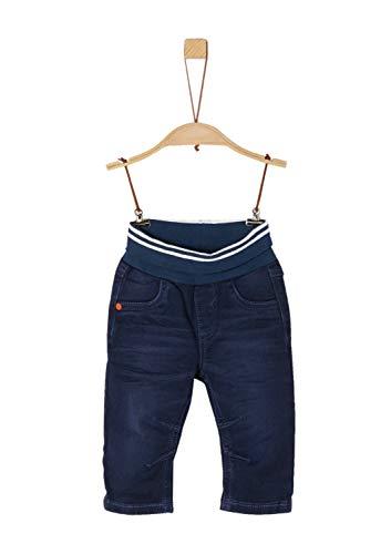 s.Oliver Baby-Jungen 65.909.71.3474 Hose, Blau (Blue Denim Stretch 57z5), (Herstellergröße: 80)