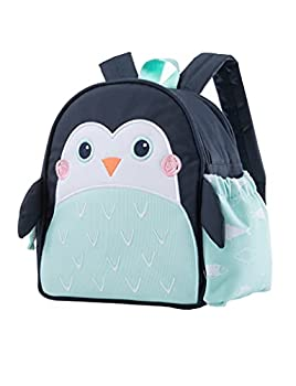 Planet Buddies Kids Lunch Box Bag Insulated Lunch Bag Backpack for School Cool Bag Lunch Boxes for Girls and Boys Children s Backpacks with Water Bottle Holder and Name Tag Pepper The Penguin