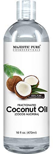 Majestic Pure Fractionated Coconut Oil, For Aromatherapy Relaxing Massage, Carrier Oil for Diluting...