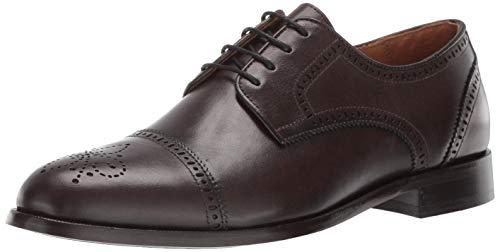 Marc Joseph New York Kensigton 2 Oxford Zapatos de Vestir con Cordones y Puntera de ala para Hombre, Marrón (Cafe Nappa), 44.5 EU