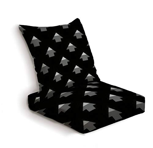2-Piece Outdoor Deep Seat Cushion Set Arrows ornament Seamless pattern Folk wallpaper Tribal motif Back Seat Lounge Chair Conversation Cushion for Patio Furniture Replacement Seating Cushion