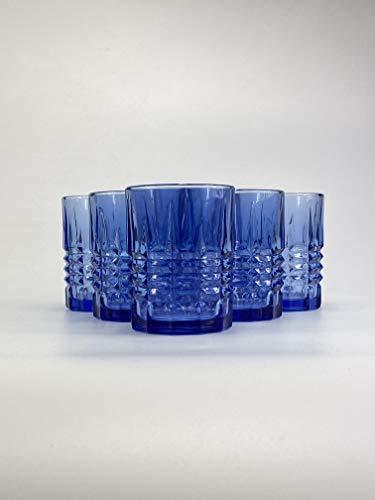 Homevibes Juego de 6 Vasos De Agua Y Whisky Tallado con Relieve,...