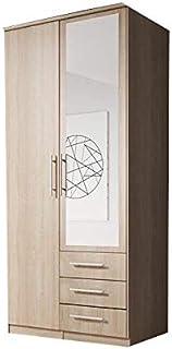 E-MEUBLES Armoire de Chambre avec 2 Portes coulissantes: 100x210x64 Ruth 2D (chêne Sonoma) Ruth 2D