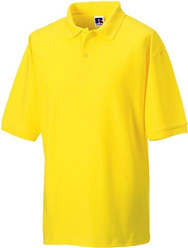 Russell Collection Klassisches Poloshirt aus Mischgewebe R-539M-0 XXL,Yellow