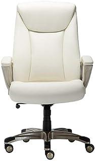 Amazon Basics Bonded Leather Big & Tall Executive Office Computer Desk Chair, 350-Pound Capacity - Cream