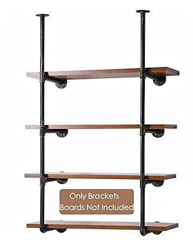 Heavy Duty Shelf Bracket Solid Steel Shelf Supports. Wall/Ceiling/Floor Mount for Wood Book Shelves, Plank Not Included