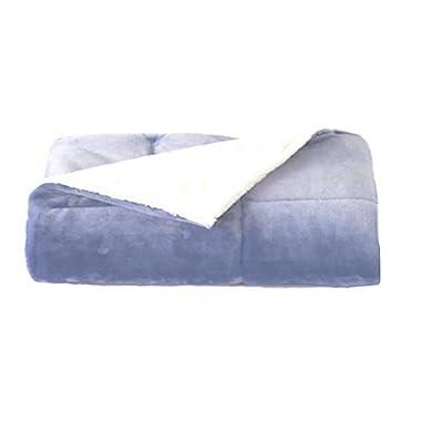 Cuddl Duds Cozy Soft Throw Blanket, Blue
