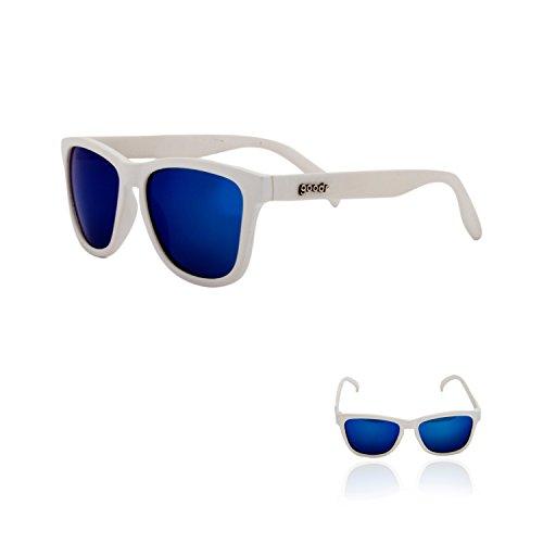 Goodr OG Polarized Sunglasses Iced by Yetis/White/Blue Lens, One Size - Men's