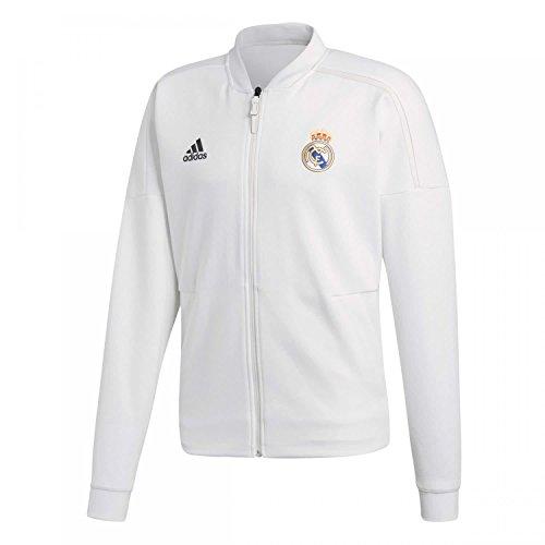 adidas Chaqueta Real Madrid Anthem para hombre, Hombre, Chaqueta, CY6098, Color blanco., extra-large