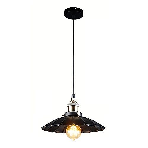 WEM Araña decorativa novedosa, lámpara colgante retro minimalista. Creativo y con personalidad, una pequeña lámpara de araña de un solo cabezal con pintura negra. Luminarias decorativas para bares, c