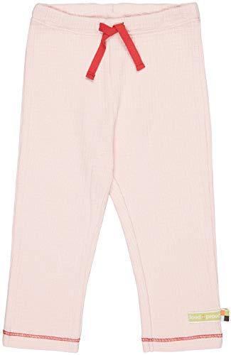 loud + proud Hose Waffel, GOTS Zertifiziert Pantaloni, rosé, 122 cm-128 cm Unisex-Bambini