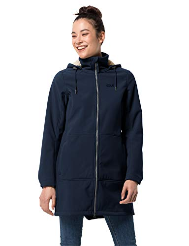 Jack Wolfskin Damen Windy Valley Coat W Softshellmantel, Midnight Blue, L