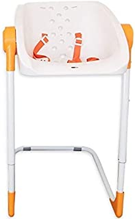 CharliChair - Original baby shower chair - white / orange