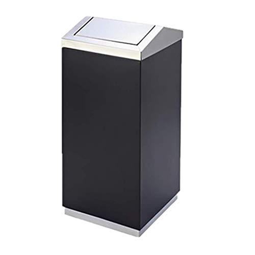 Cubo de basura con tapa Bote de basura HJBH - Cenicero basculante europeo Cuadrado de acero inoxidable Adecuado for lobby del hotel Centro comercial del hotel Ascensor Cenicero vertical Bote de basura