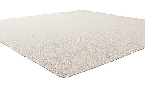 ナイスデイ マルチカバー アイボリー S (150×200cm) mofua (モフア) イブル 綿100% cloud柄 キルティング 洗える 低ホルム 36203908