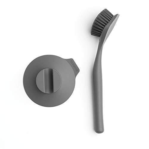 Brabantia - 117589 - Brosse à vaisselle avec ventouse, Gris foncé