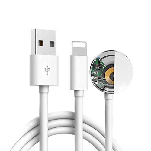 Versione aggiornata 2019 Cavo magnetico per caricabatterie per orologi per iWatch 5/4/3/2/1, cavo di ricarica wireless 2in1 compatibile con Apple Watch serie 5/4/3/2/1 e iPhone 11 Max Pro/XR/XS Max
