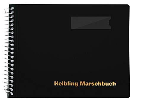 Helbling BMS20 Marschbuch (Notenbuch mit 20 blendfreien Klarsichthüllen, Umschlag aus flexiblem Kunststoff, bruchsichere Spiralbindung, wetterfest, Querformat: 18 x 14 cm) schwarz