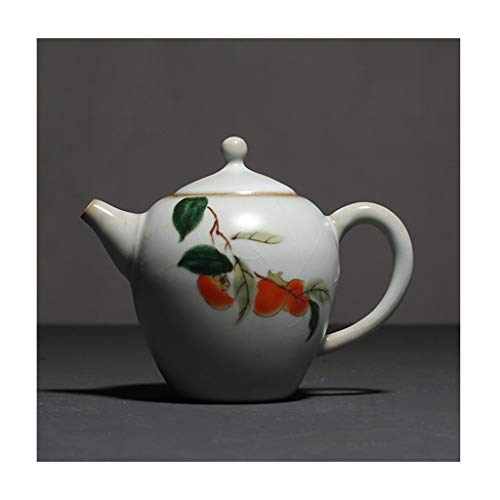 Teteras Tetera de la Porcelana con Filtro de Alta Capacidad Neta de 225 ml de cerámica Hecha a Mano del hogar Juego de té teteras Retro Tea Pot Moda Tetera (Color : B)