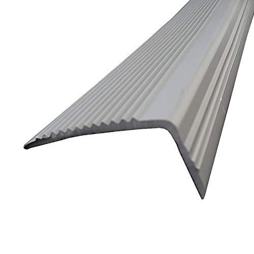 Cierre de Escaleras Borde de Paso de ángulo de 50x20mm para escuelas Escaleras de Interior para Exteriores PVC 1M Longitud L Forma Stair Anti resbalón Rose Exterior e Interior