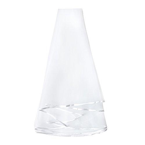 Oblique-Unique® Brautschleier für JGA Junggesellinnenabschied Hochzeit Schleier Hen Party weiß