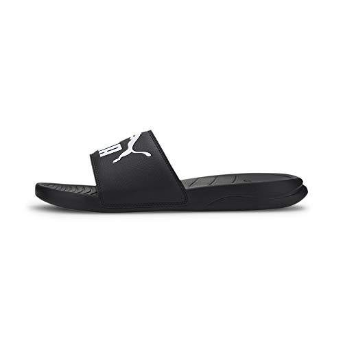PUMA Popcat 20, Zapatos de Playa y Piscina Unisex Adulto, Schwarz Black White, 43 EU