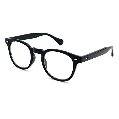 KISS Neutrale Brille stil MOSCOT mod. DEPP - optischer rahmen VINTAGE Johnny Depp mann frau CULT unisex - SCHWARZ