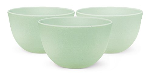A'Domo PV-BAM-6141 Point-Virgule Set of 3 Bamboo Fiber Bowls Ice Blue Ø 10Cm H 6Cm