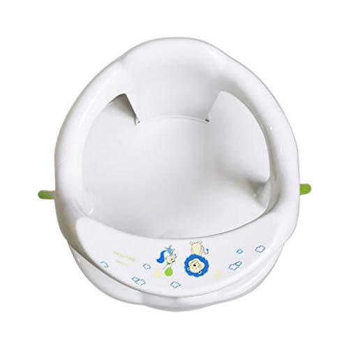 Baby Badesitz,Baby Badespielzeug Wanne Ring Sitz rutschfeste Sicherheitsstuhl FüR Kleinkind Kinder Mit 4 Saugnäpfen Badewanne Badesitz Badewannensitz 32x32x21CM (Weiß)
