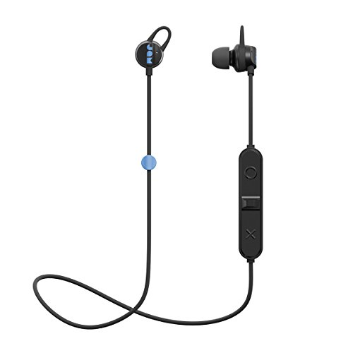 JAM Live Loose BK Auriculares inalámbricos con Bluetooth, 6 Horas de reproducción, Radio de 10 Metros, Altavoz, Auriculares de diseño liviano para Deportes, Negro