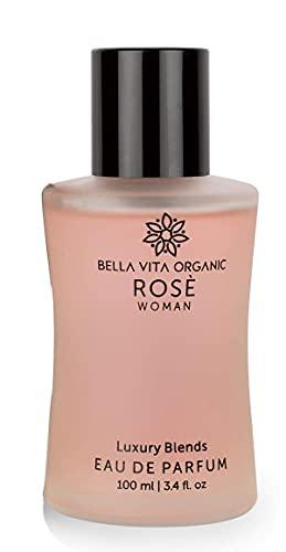 Glamorous Hub Bella Vita Perfume de rosa orgánico para mujer Edp Fragancia floral de lujo de larga duración, 100 ml