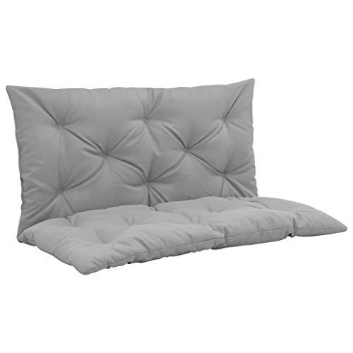 Tidyard Coussin pour Balancelle Douce et Confortable Style Moderne Gris 100 cm