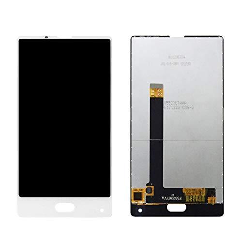 MOLIBAIHUO 5.5'Pulgada Compatible con Bluboo S1 Pantalla LCD + Pantalla táctil LCD Digitalizador de Pantalla de Vidrio con reemplazo de Marco + Herramientas gratuitas LCDs (Color : White No Frame)