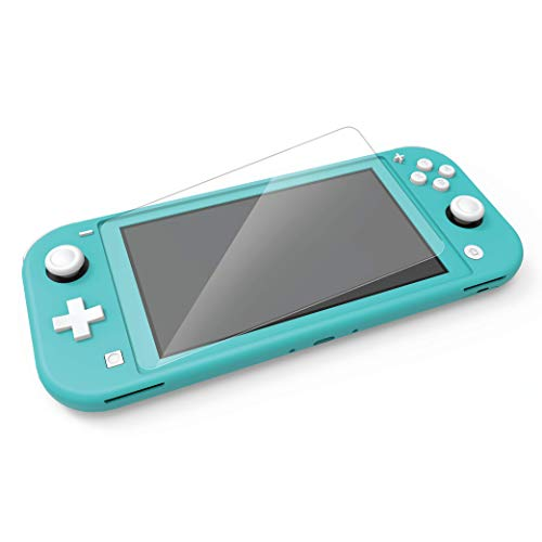 Nyko Screen Armor - Protect your Switch Lite with 9H Hardness Glass Cover - Guards Against Finger Prints and Smudges - Tempered Glass for Switch Lite - Cleaning wipes Included - Nintendo Switch