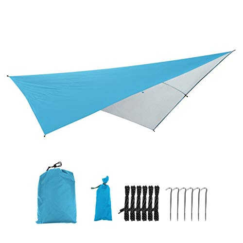 Mdsfe Waterproof Anit-UV Outdoor Awning Multifunctional Camping Picnic Beach Mat Awning Canopy Garden Tent Shade Tent 290 * 290cm-05,A4