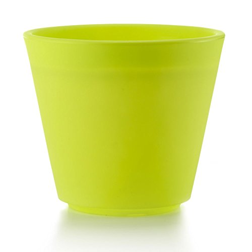 Fioriera in resina RIVA 43, 49x49x43 cm, verde opaco