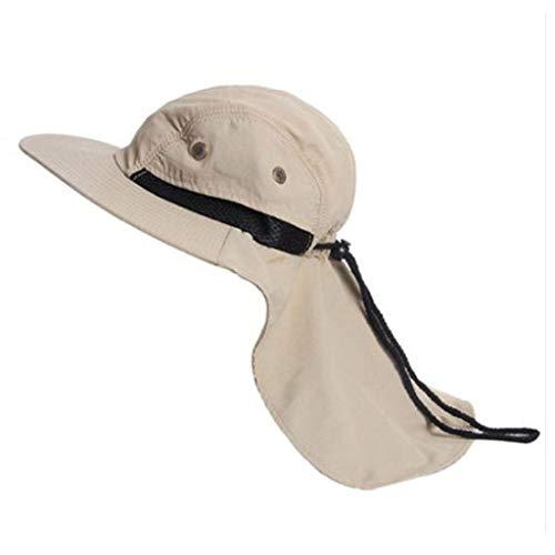 RISTHY Gorro de Pescador Unisex al Aire Libre Sombrero de Sol Visera Plegable Sombrero Casual Cowboy...