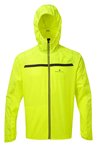 Ronhill Herren Momentum Afterlight Jacke, Herren, Momentum Afterlight Jacket, Fluogelb/reflektierend, Medium