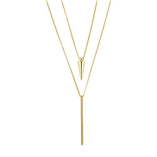 Heideman Halskette Damen Duplo goldfarbend aus Edelstahl Gold farbend matt Kette für Frauen ohne Stein