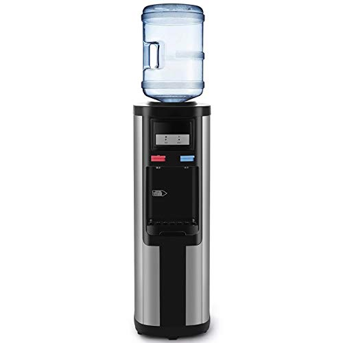 Water Cooler Dispenser Top Loading 5 Gallon Stainless Steel Hot Cold and Normal Temperature Water...