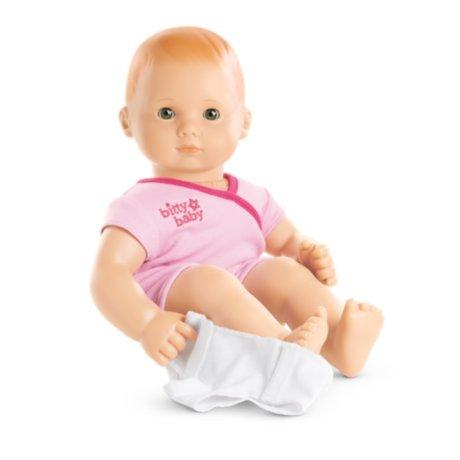 American Girl - Bitty Baby Doll Light Skin Red Hair Hazel Eyes BB6 with Pink Bodysuit